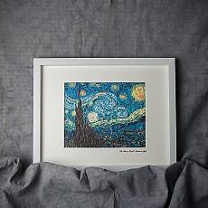 한지명화액자-별이빛나는밤 | 빈센트 반 고흐