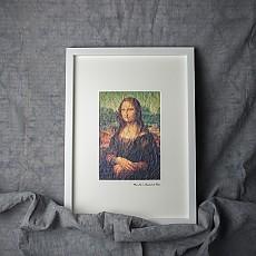 한지명화액자-모나리자 | 레오나르도 다빈치