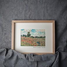 한지명화액자-아르장퇴유 부근의 개양귀비꽃 | 클로드 오스카 모네